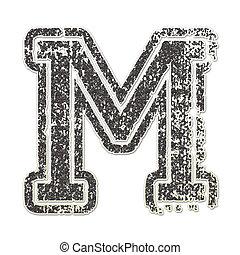 Letter M in College Glitter - Letter M
