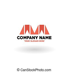 Letter M Logo - Abstract Simple Style M Logo, Vector,...