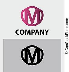 Letter M logo. Alphabet logotype
