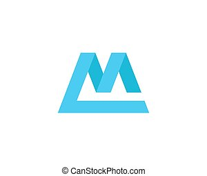 Letter M Logo - Letter M logo design template element. Flat...