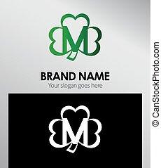 Letter M logo Clover icon