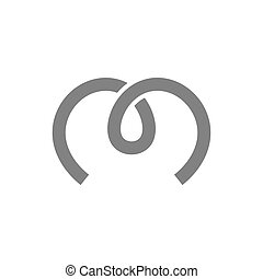 Letter M Logo Concept Icon. Vector illustration