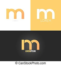 letter M logo design icon set background