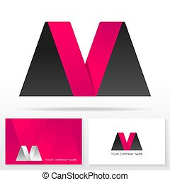 Letter M logo design - Stock vector.