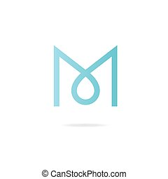 Letter M logo. Design template elements