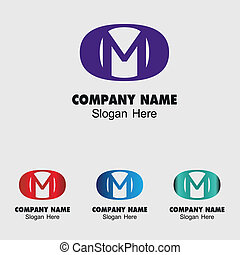 Letter M logo design template letter M icon