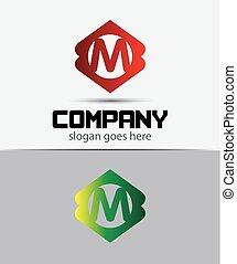 Letter M Logo Design.Creative