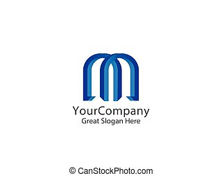 letter M logo icon. abstract alphabet sign design. vector illustration.