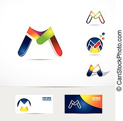 Letter M logo icon colors