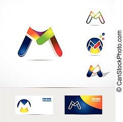 Letter M logo icon colors