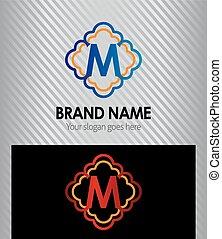 Letter M logo icon design symbol