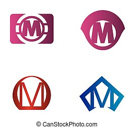 Letter M logo icon design template