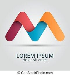 Letter M logo icon design template elements.