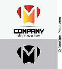 Letter M logo icon design template