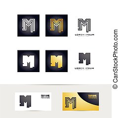 Letter M logo icon set