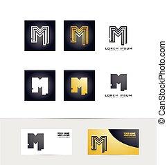 Letter M logo icon set
