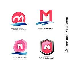 Letter M logo icon set - Vector company logo icon element...