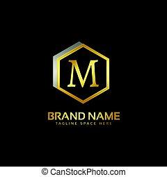 letter M logo premium design