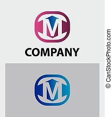 Letter M logo / symbol vector icon