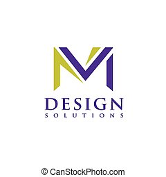 Letter M logo vector illustration template, letter M trend...