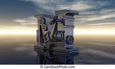 letter m machine
