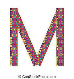 Letter M on white background