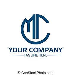 Letter MC stock logo, MC initial., flat design. technology...