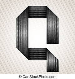 Letter metal ribbon - Q
