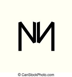 letter mn abstract simple logo vector