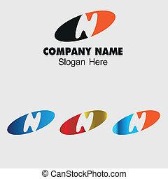 Letter N alphabet logo vector
