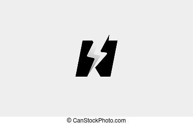 Letter N Bolt Logo Vector Design Icon Illustration