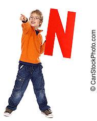 "Letter \""N\"" boy"