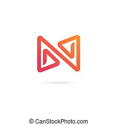 Letter N logo. Design template elements