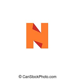 Letter N logo. Design template elements, paper.