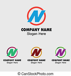 Letter N logo design template letter N icon