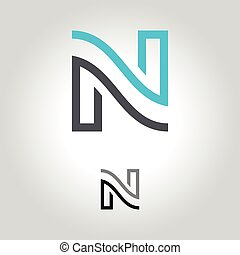 letter n logo, icon and symbol vector illustration