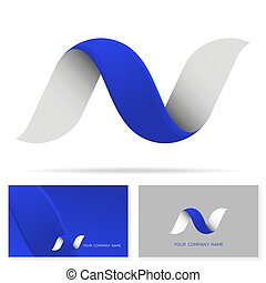 letter n logo icon shape concept design business corporate logo