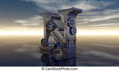 letter n machine