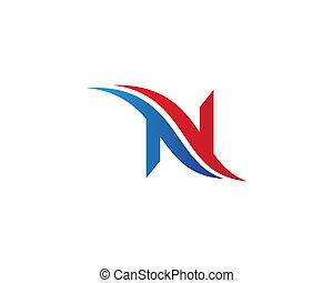 Letter n symbol illustration design