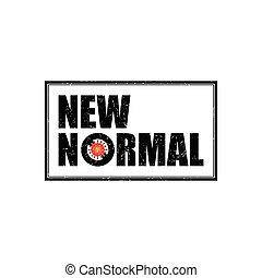 Letter NEW NORMAL logo vector