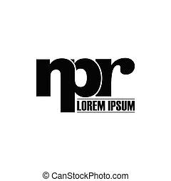 Letter NPR simple monogram logo icon design. initial logo vector illustration.