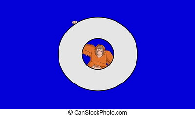 Letter O and Orangutan (background) - Animated animal...