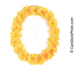 Letter O flower alphabet.