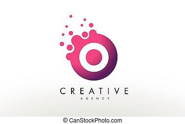Letter O Logo. O Letter Design Vector - Dots Lette O Logo. O...