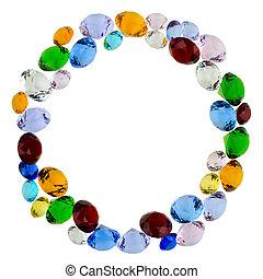 Letter O of gems