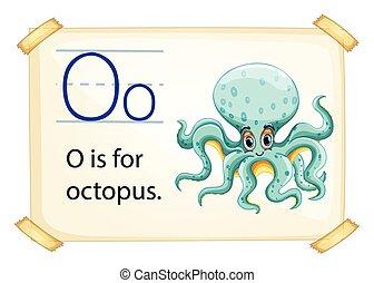Letter O - Poster of an alphabet O