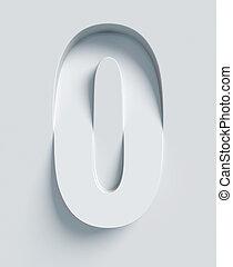 Letter O slanted 3d font