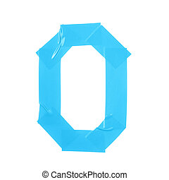 Letter O symbol made of insulating tape