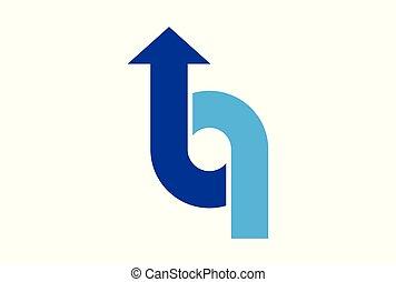 Letter O up arrow logo