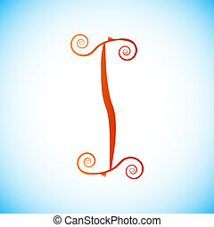Letter of alphabet - i